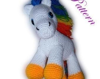 "Rainbow Pony """"""P A T T E R N"""""""