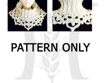 SNOW QUEEN Crochet Snowflake Cowl PATTERN for teens and women