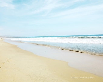 Beach Photography Print, Seascape Picture, Bathroom Wall Decor, California Beach Photo, Surf Art, Coastal Wall Art Newport Beach Wall Decor
