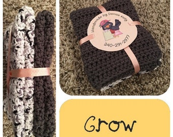 Crocheted Dishcloths-Crow