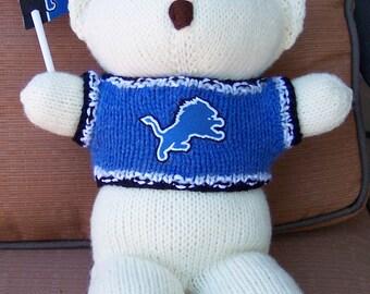 Bear, Detroit Lions, Baby Boy Bear, Baby Shower Gift, Christmas Gift, Birthday Gift, Keepsake Bear, Souvenir Bear, Father's Day