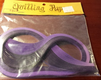 Vintage Craft Wagon purple quilling paper