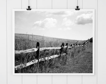 Black and White Wall Art, Black and White photography, black and white landscape, farmhouse decor, Country Wall decor, wall art