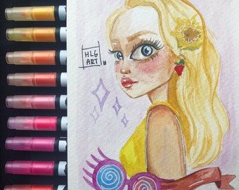 ORIGINAL Luna Lovegood Postcard
