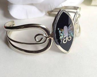 For Her, Silver Bracelet, Vintage Cuff Bracelet, Vintage Silver Cuff Bracelet, Vintage Mexican Cuff Bracelet, Mexican Silver Cuff Bracelet