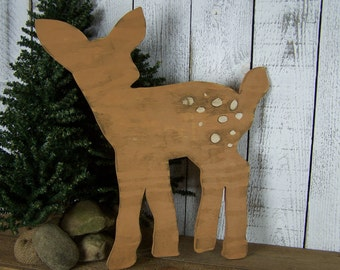Baby Deer Nursery Decor Wooden Deer Decor Rustic Nursery Decor Wall Art Hunting Nursery Woodland Nursery Baby Nursery Decor Woodland Animals