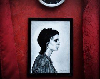 Lisbeth Salander The Girl With The Dragon Tattoo Art Print