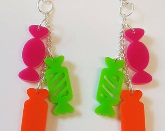 Candy Shop Statement Earrings - Acrylic