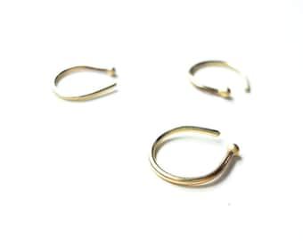 14k solid gold nose hoop