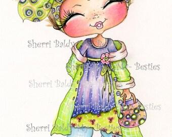 INSTANT DOWNLOAD Digital Digi Stamps Big Eye Big Head Dolls Bestie New Bestie Trudy My Besties By Sherri Baldy