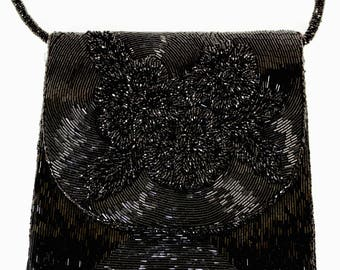Amazing Square Beaded Evening Handbag Hand Made in Hong Kong