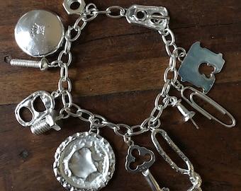 Trashy Trinkets Charm Bracelet in Silver