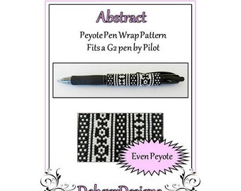 Bead Pattern Peyote(Pen Wrap/Cover)-Abstract