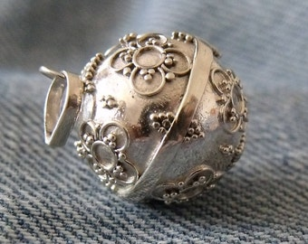 925 Sterling Silver Harmony Chime Ball Angel Caller Jewellery Mexican Bola Chiming Pendant