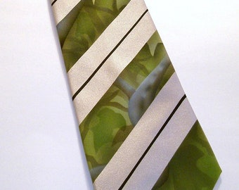 RokGear Custom Camo tie. one of a kind hand inked mens camo necktie