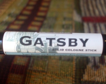 Solid COLOGNE Stick - GATSBY - classic scent by Man Cave Soapworks- .99 shipping