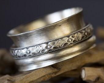 Sterling Silver Ring, Spinner Ring, Sterling Ring, Spinner, Silver Rings for Women, Wide Band Ring, Spinner Rings for Women, Silver Ring Men