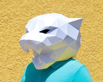 DIY Panther Mask. | Panther mask | forest animal | papercraft | Halloween mask | animal mask | Paper Animal