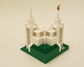 NEW Lego MOC San Diego LDS Mormon mini Temple architecture kit with instructions