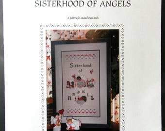 Sisterhood of Angels  Counted Cross Stitch 1997 by Something in Common paper pattern