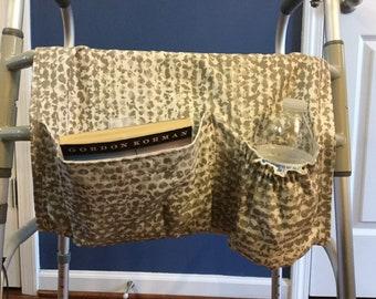 Walker Bag, Walker Caddy, Walker Tote Bag, Walker Purse, Gift for Grandparents, Gift for Elderly, Gray Walker Bag, Grandfather Gift