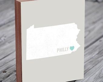 Philadelphia Gift -  Philadelphia Map Poster - Philadelphia Sign - Philadelphia Wedding Sign - Philadelphia Wedding Gift - Philly Wedding