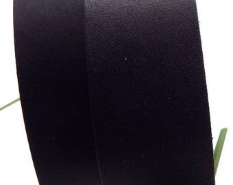 flat black 30mm by 20cm leather