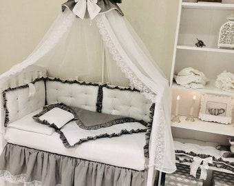 Custom Baby Bedding Crib Bedding Bedding Sets Crib Set Crib Bumper Baby Bumper Pads Baby Bumper Crib bedding set Baby Canopy