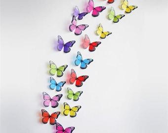 3D Butterflies stickers 18 pcs/lot Butterfly Wall Art, Butterfly Art, Butterfly Decoration butterfly Wedding 3d Wall Butterflies!
