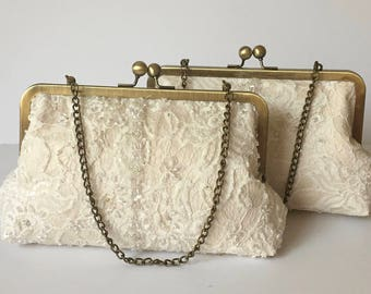 CUSTOM, bridal wedding dress clutch purse - repurpose mom's dress. a keepsake to pass on to your daughter,  grand daughter