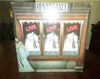 Vintage 1976 Vinyl LP Record Renaissance Live at Carnegie Hall Very Good Condition 6451