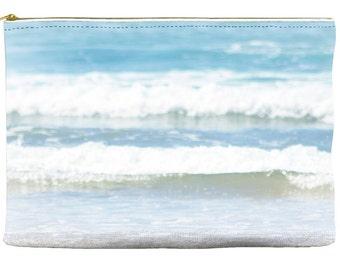 Makeup Bag - Accessory Bag - Cosmetic Bag - Ocean Pouch - Blue and White Bag - Zipper Pouch - Purse Organizer - Make up Bag - Pencil Case