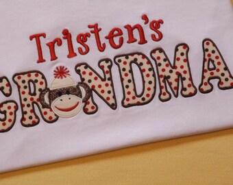 Grandma Sock Monkey T-Shirt