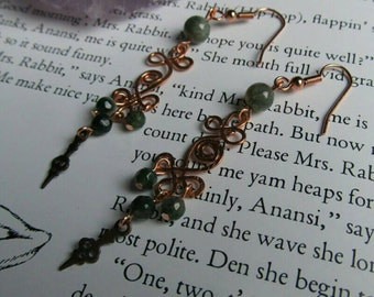 Item 6384 Shades of Green Earrings