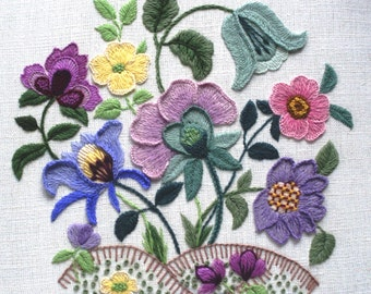 Larkrise - A Crewel Embroidery kit from the Needlewoman's Studio