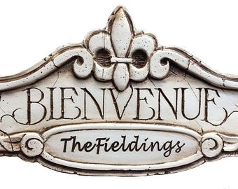 Custom Bienvenue French Welcome Sign