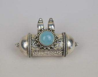 Amulet, Talisman, Kavaca, Kavacha, Sterling Silver, Pendant,