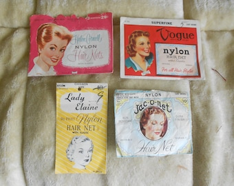 Vintage Hair Nets/40's-50's Hair Nets in Different Sizes & Colors - Sold Separately