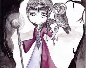 Print - magical woman