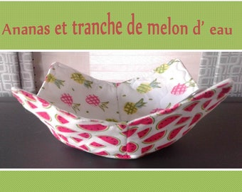 Microwave / Reversible Bowl Cozy / Quilted Hot Pad