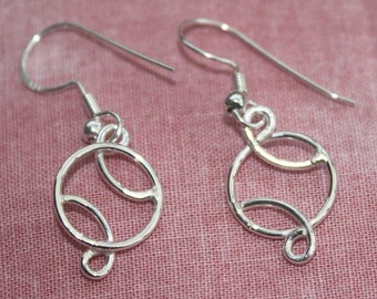 Sterling Silver Basketball Earrings