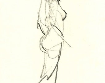 Gesture study 283 Original drawing  7.5 x 10.5 inches