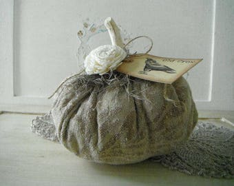 chenille pumpkin table decor thanksgiving decor shelf sitter halloween table decor floral fall decor old crow tag vignette decor