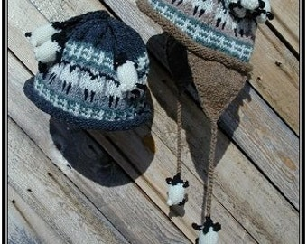 Pattern - Sheep and Lambs Flap Hat