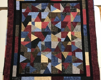Flannel Scrap Crazy Quilt