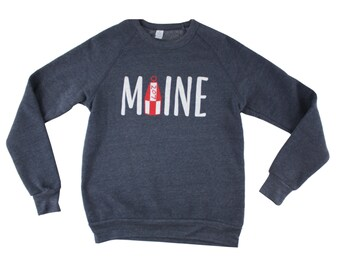 MAINE Crewneck Sweatshirt | Sweatshirt | Maine Sweatshirt | Maine | Shirt | Buoy | Apparel | Crewneck Sweatshirt | Cotton | Made in Maine