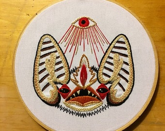 Third Eye Bat Hand Embroidery