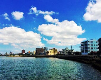 Okinawa Ocean at American Village Photo Print