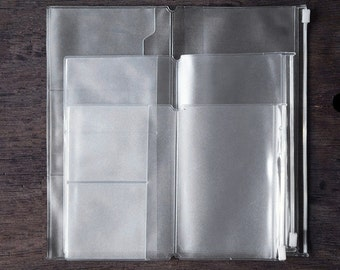 PVC Pouch & Card Holder for Midori Travelers Notebook