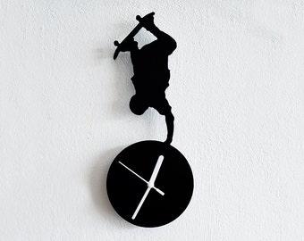 Skateboarding Silhouette Wall Clock
